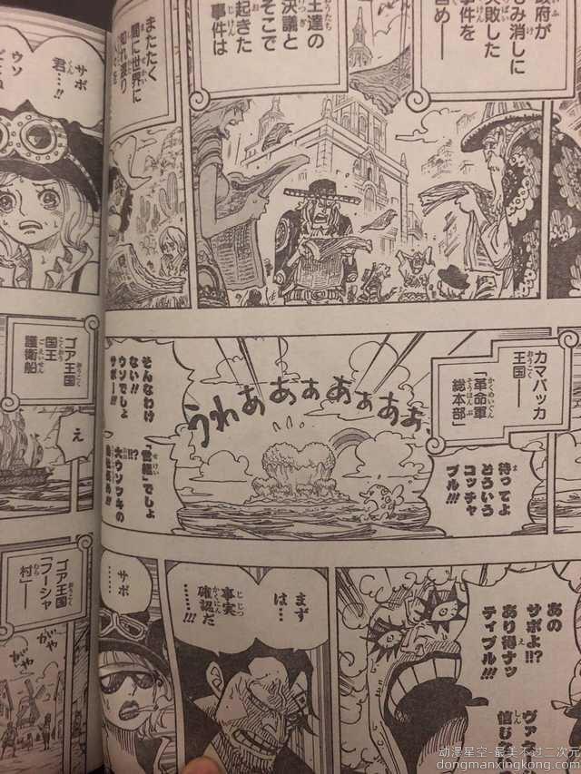 剧透警告! 《海贼王》漫画最新话传出萨博死讯
