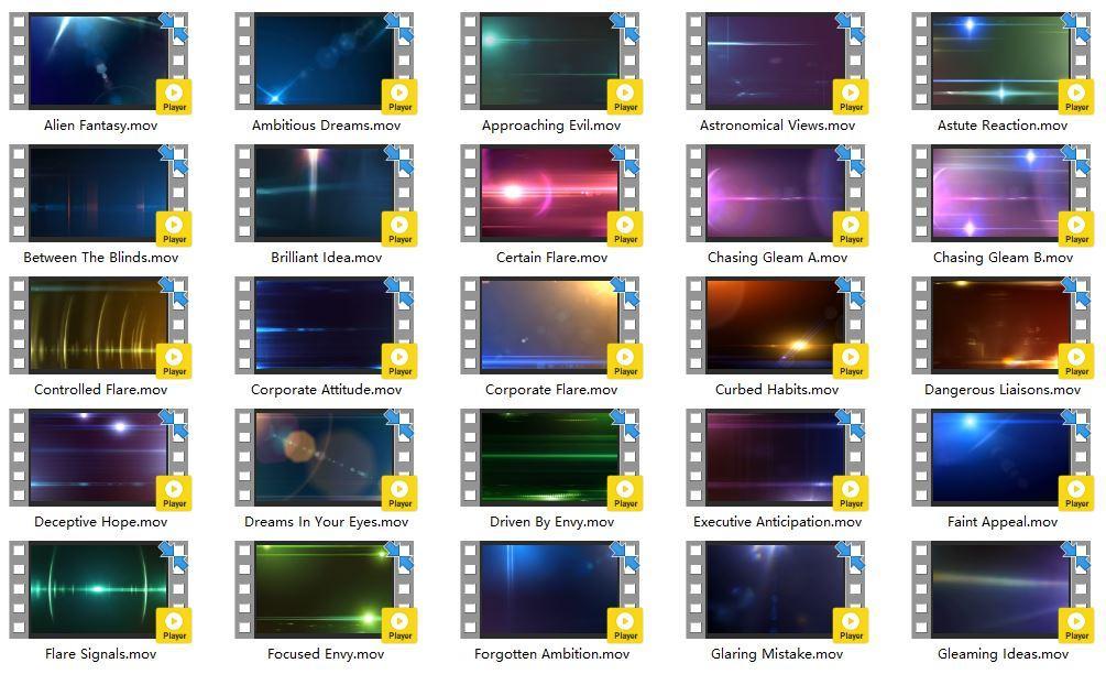 视频素材-25组镜头光晕特效Lens Flair 全高清素材1080P 支持所有后期软件(4)