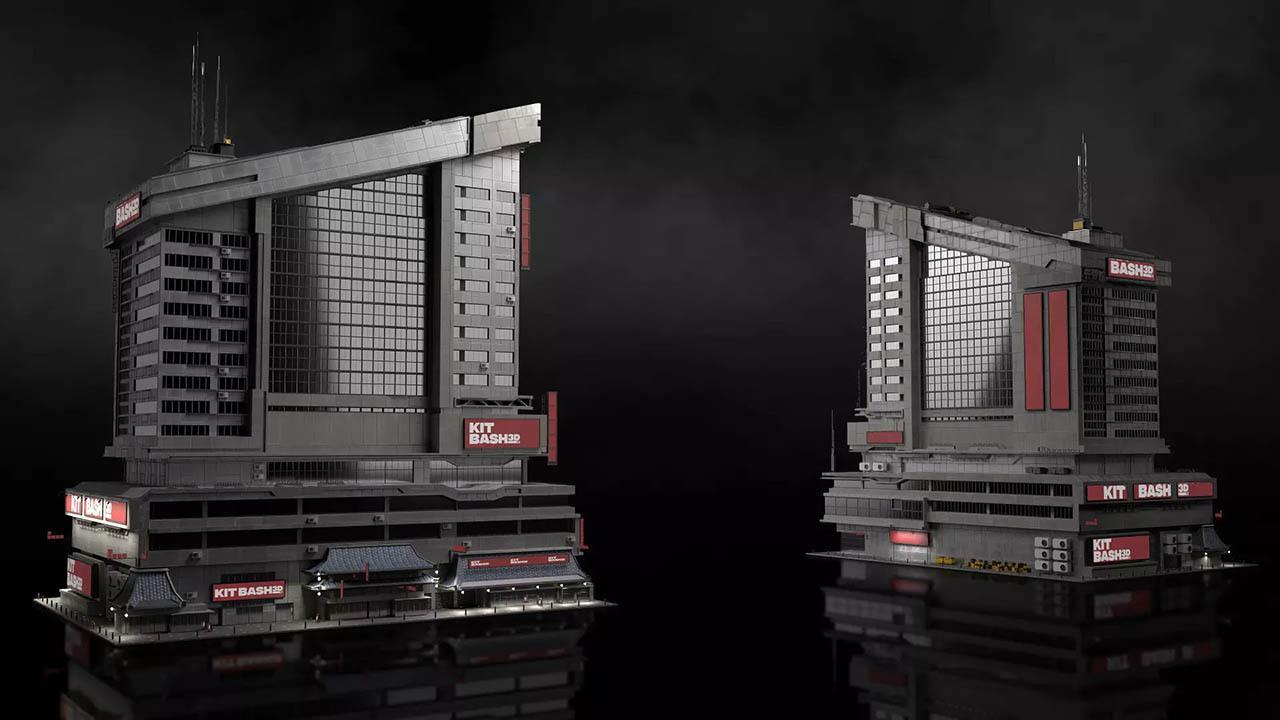 科幻未来城市模型套装 Neo Shanghai (HDRP) KitBash3D