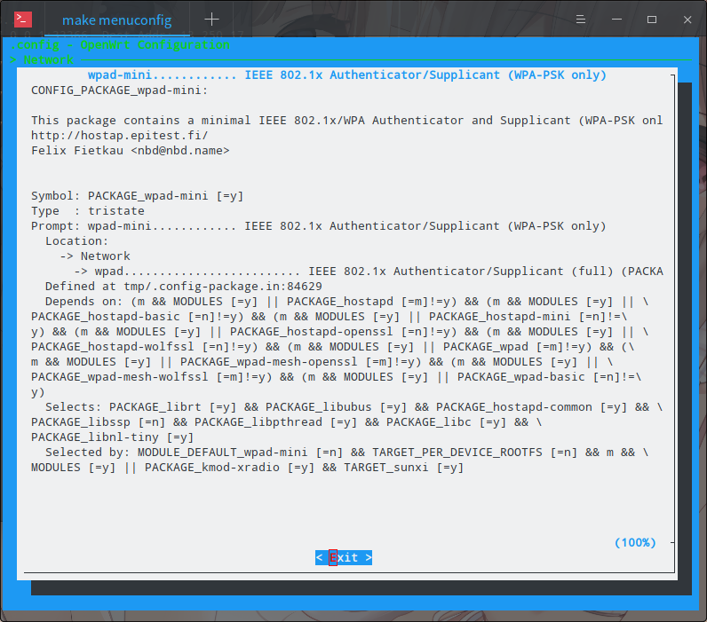 wpad menuconfig