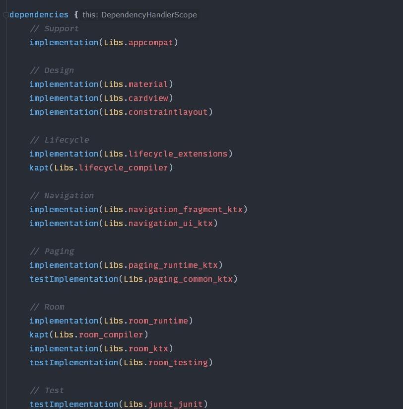 build.gradle with buildSrc