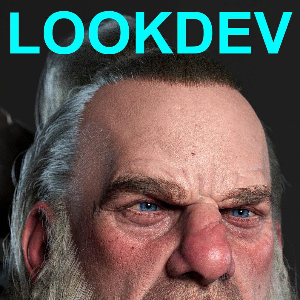Barbarian – Lookdev for Realistic Characters 野蛮人 逼真角色Lookdev
