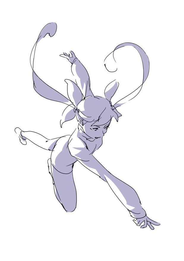 原画插画-日本 人体基础-姿势及体块表现分析 光影参考 412P(5)