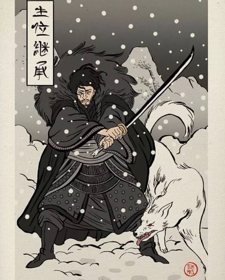 来,用日本浮世绘风格重现一下《权力的游戏》