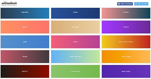 UIgradients – 实用的渐变颜色工具 可转成CSS代码