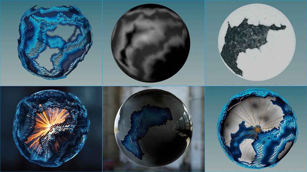 科幻球特效动画教程 Houdini Tutorial – Procedural Sci-Fi Sphere Buildup