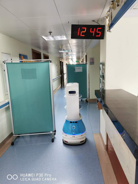 火神山医院送餐机器人开始上班了!