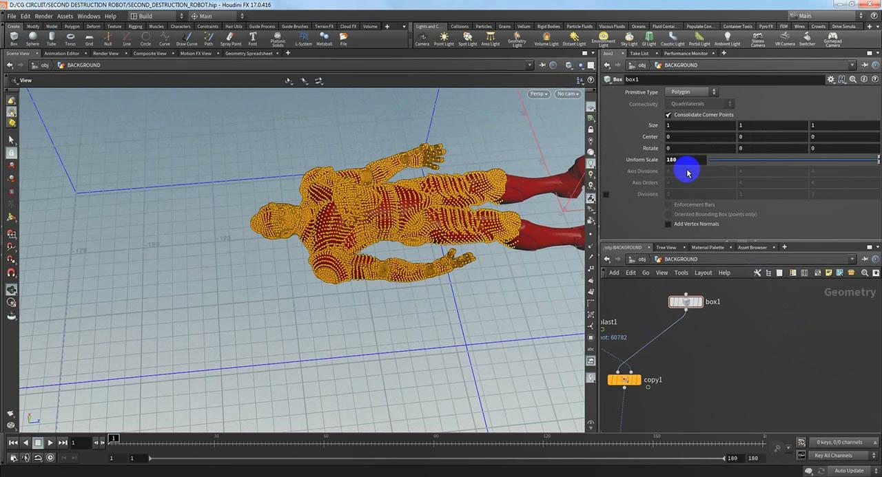 Ground breaking interaction with character effect in Houdini - CGCircuit