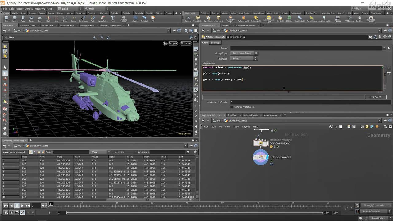 Advanced VEX and Python for Houdini TDs – FXPHD – HOU301