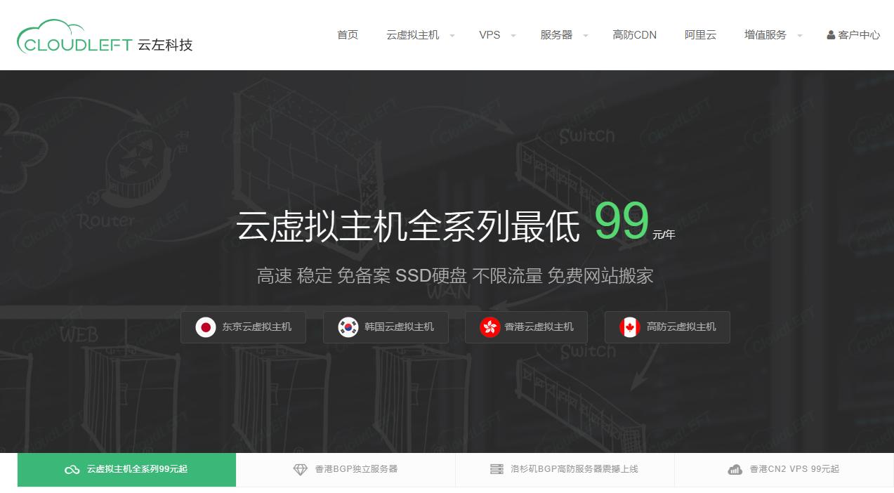 云左科技 - 云虚拟主机最低99元/年