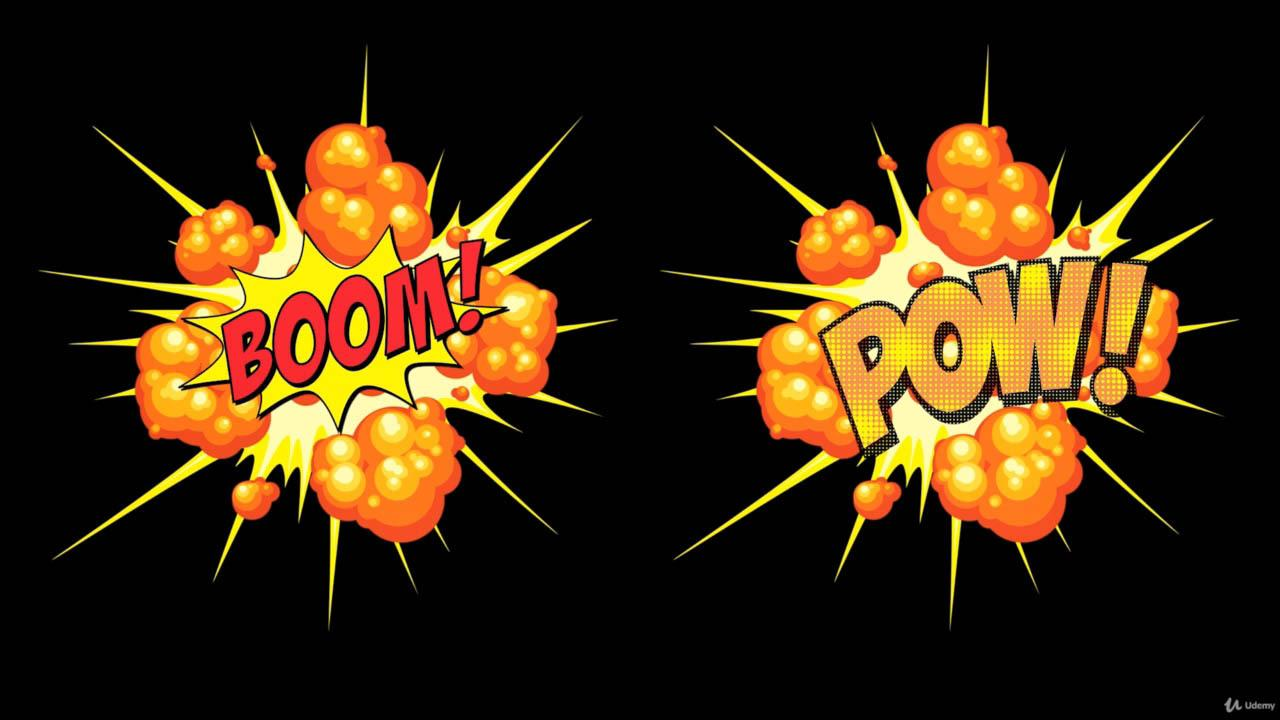 2D Explosion Animations Make Cartoony VFX in Photoshop 二维卡通爆炸元素PS教程