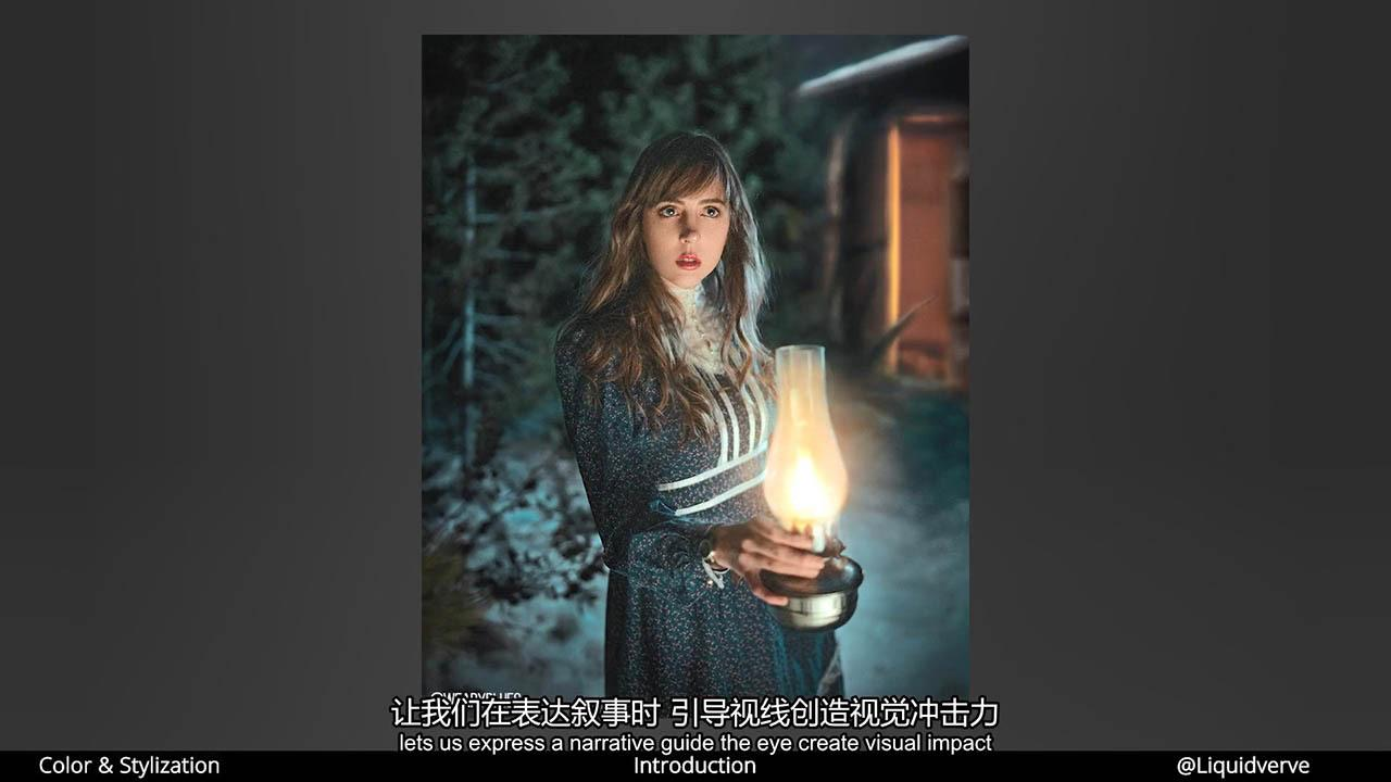 PS人像美容修图教程 Liquidverve Coloring and Stylization for Portraits