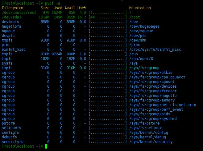 Linux中监控磁盘分区和使用情况的几个工具Linux中监控磁盘分区和使用情况的几个工具