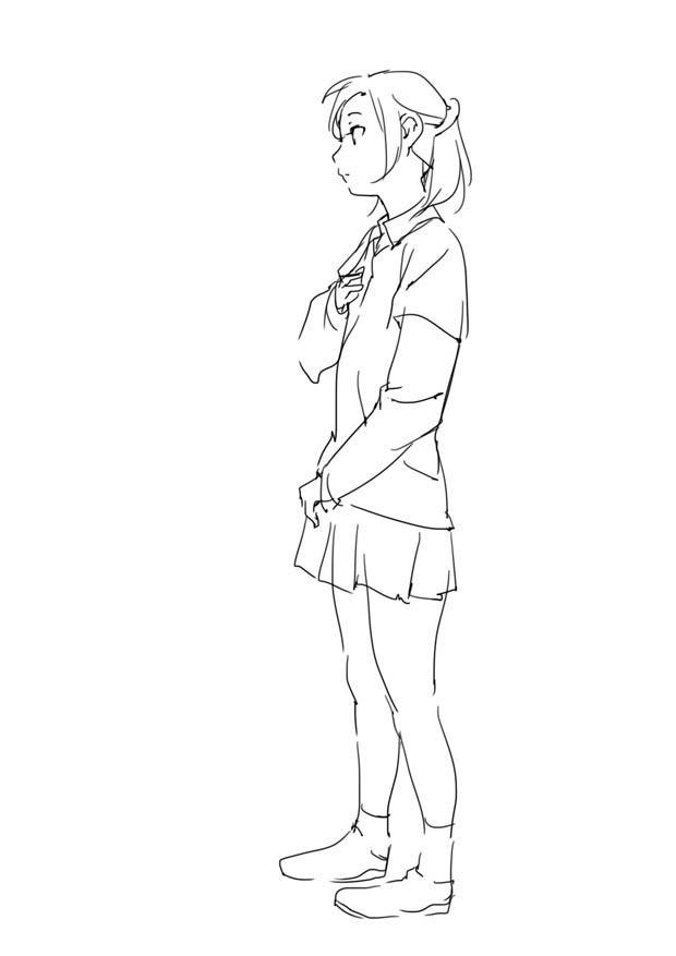 原画插画-日本 人体基础-姿势及体块表现分析 光影参考 412P(3)