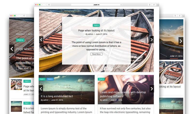 Responsive Recent Post Slider Pro – 最新文章幻灯片 WordPress插件(已汉化)