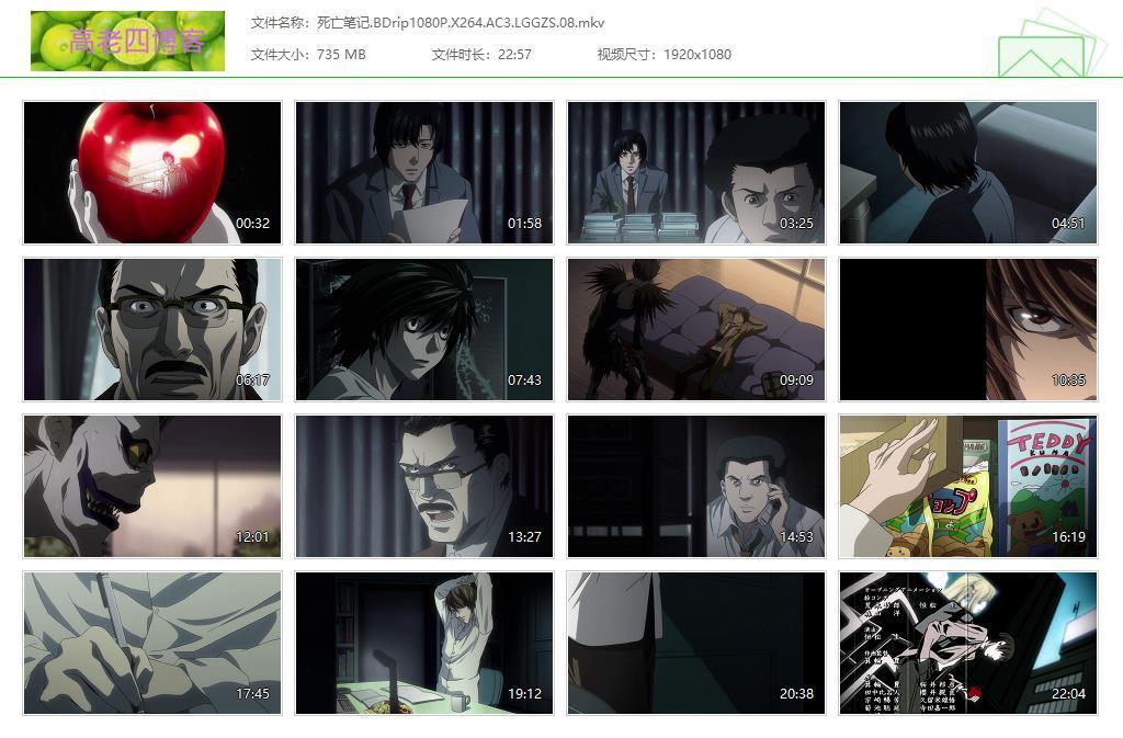 死亡笔记动画全集台日英粤德五语 1080P 分享的图片-高老四博客