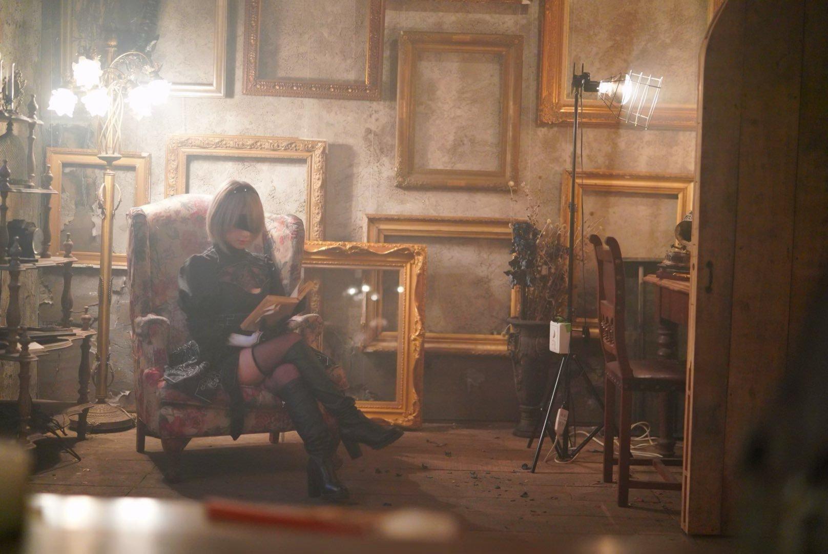 高颜值不蒙眼-桃乃木香奈的《尼尔机械纪元》2B小姐姐 COS  养眼图片 第3张