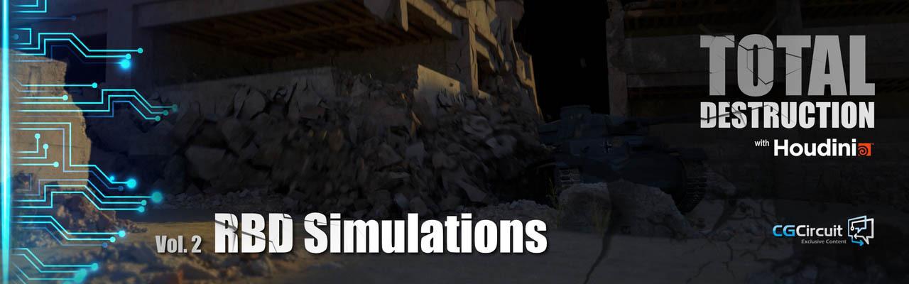 CG Circuit – Total Destruction Vol.2 RBD Simulations Houdini 爆破特效第2卷RBD模拟楼坍塌特效教程