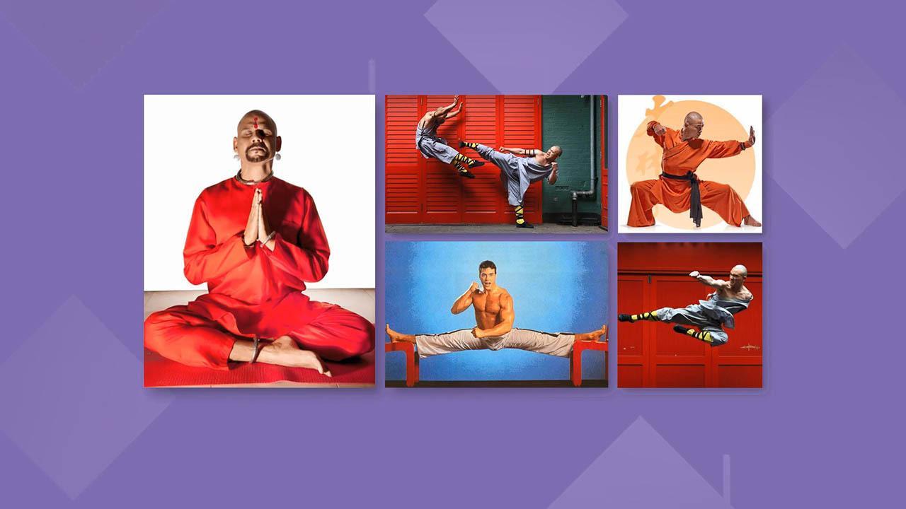 Motion Design School - 3D Monks Animation Masterclass 三维扁平化和尚人物MG动画AE/C4D教程