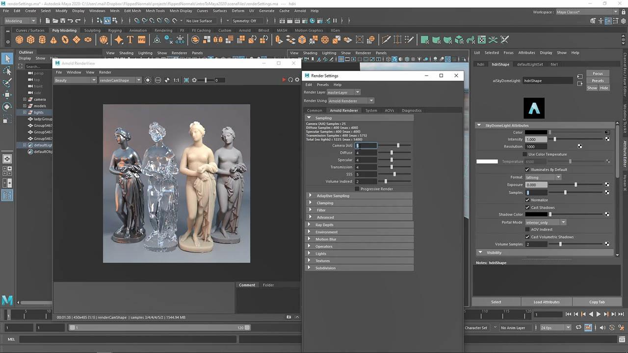 Flipped Normals – Introduction To Maya