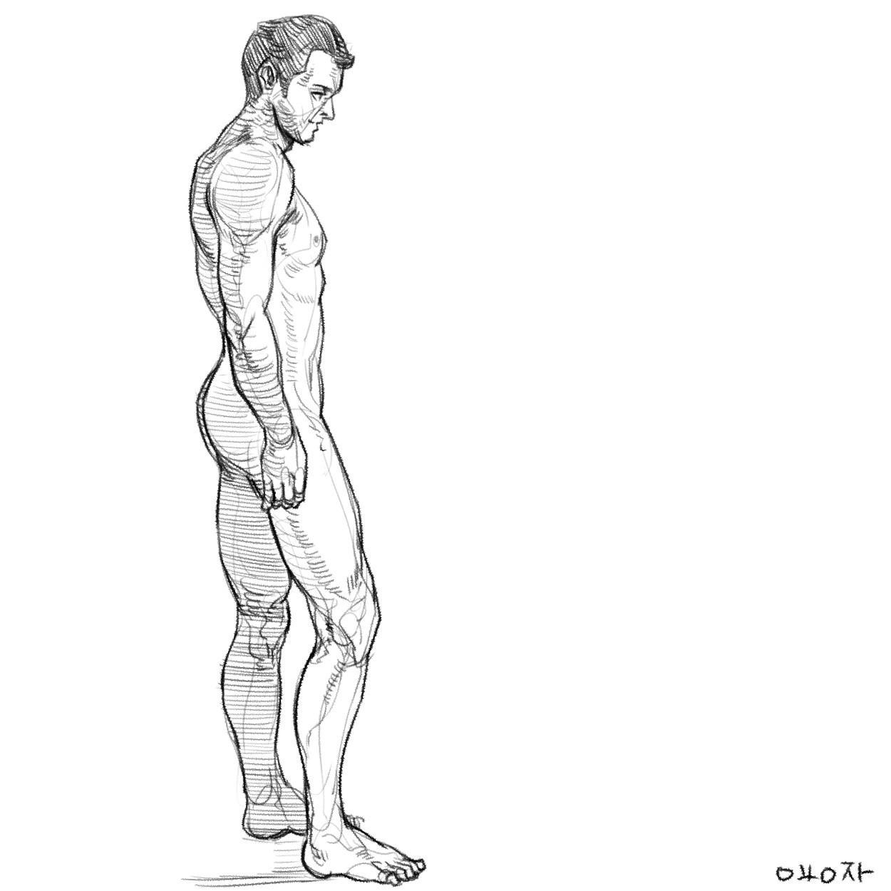 原画插画-人体速写光影肤色律动的曲线肢体语言作品原画插画线稿186P(3)