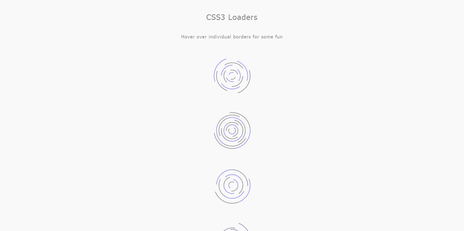 CSS3旋转Loaders加载动画