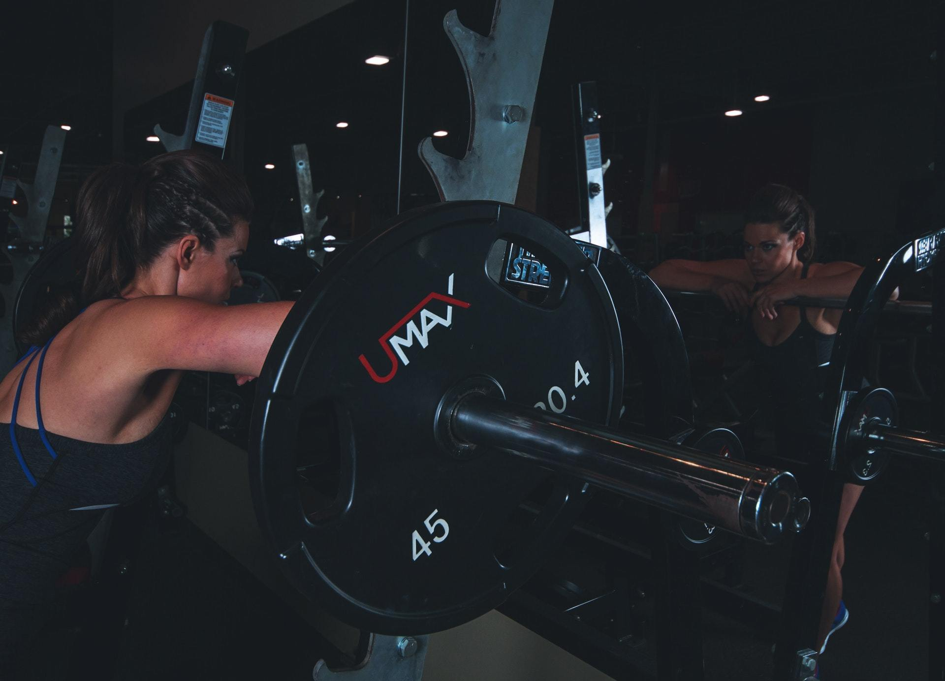 barbell multi-gym fitness muscle building