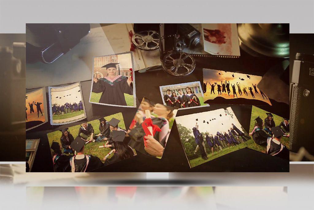 影音模板-青春记忆同学回忆录毕业季电子相册AE模板(4)