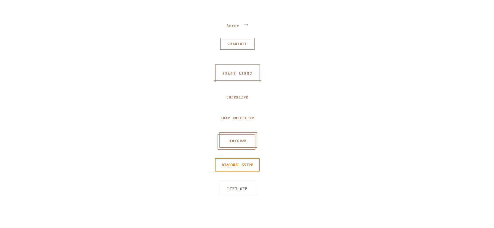 纯CSS按钮悬停动画