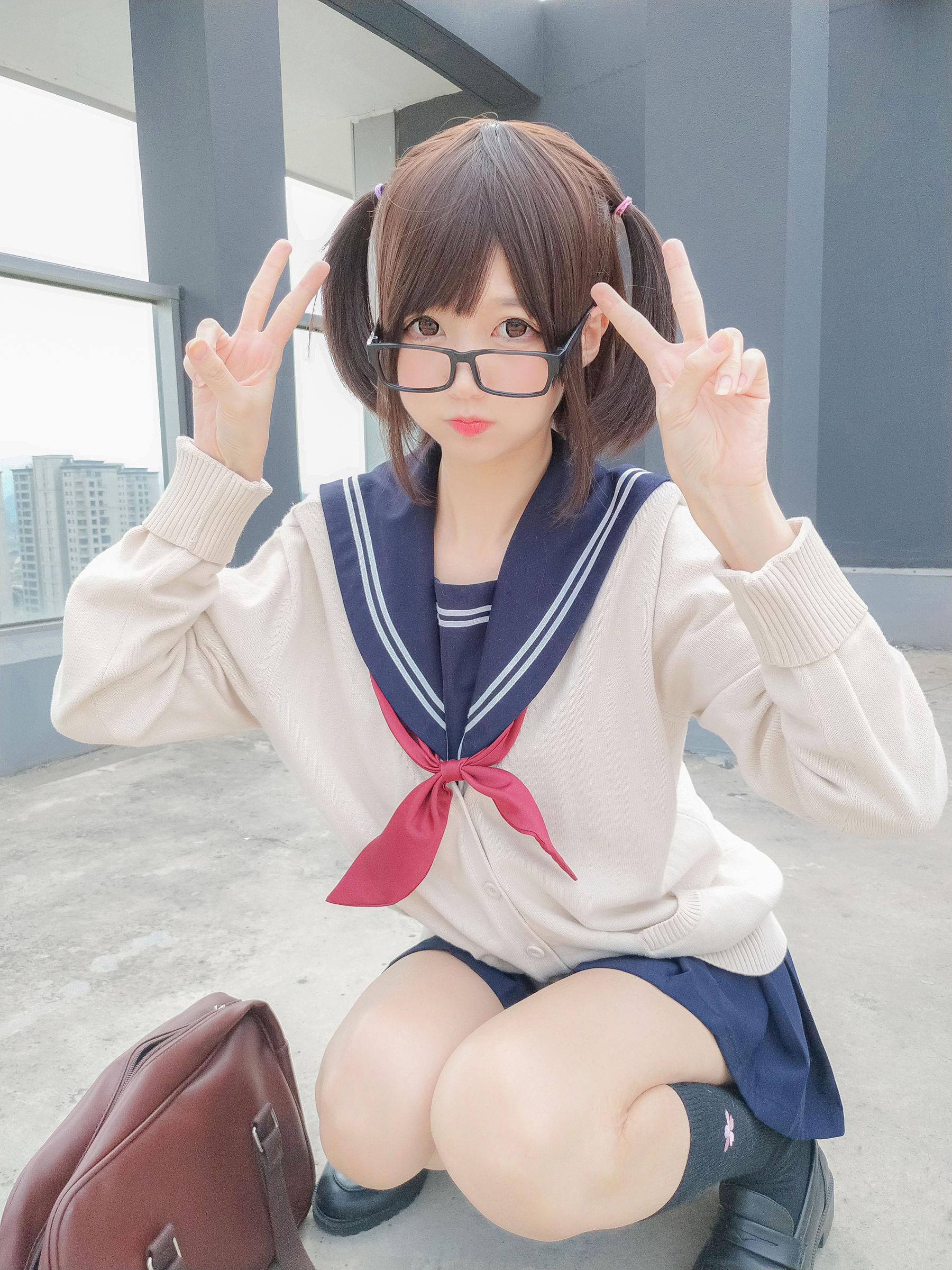 [Cosplay写真] NAGISA魔物喵 - 海军JK风