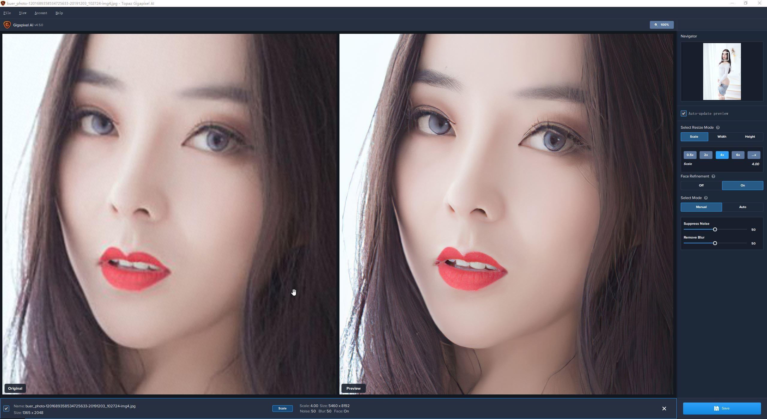 VIP资源-智能图片无损放大工具 Topaz Gigapixel AI 5.5.1 Win 中文汉化版(10)