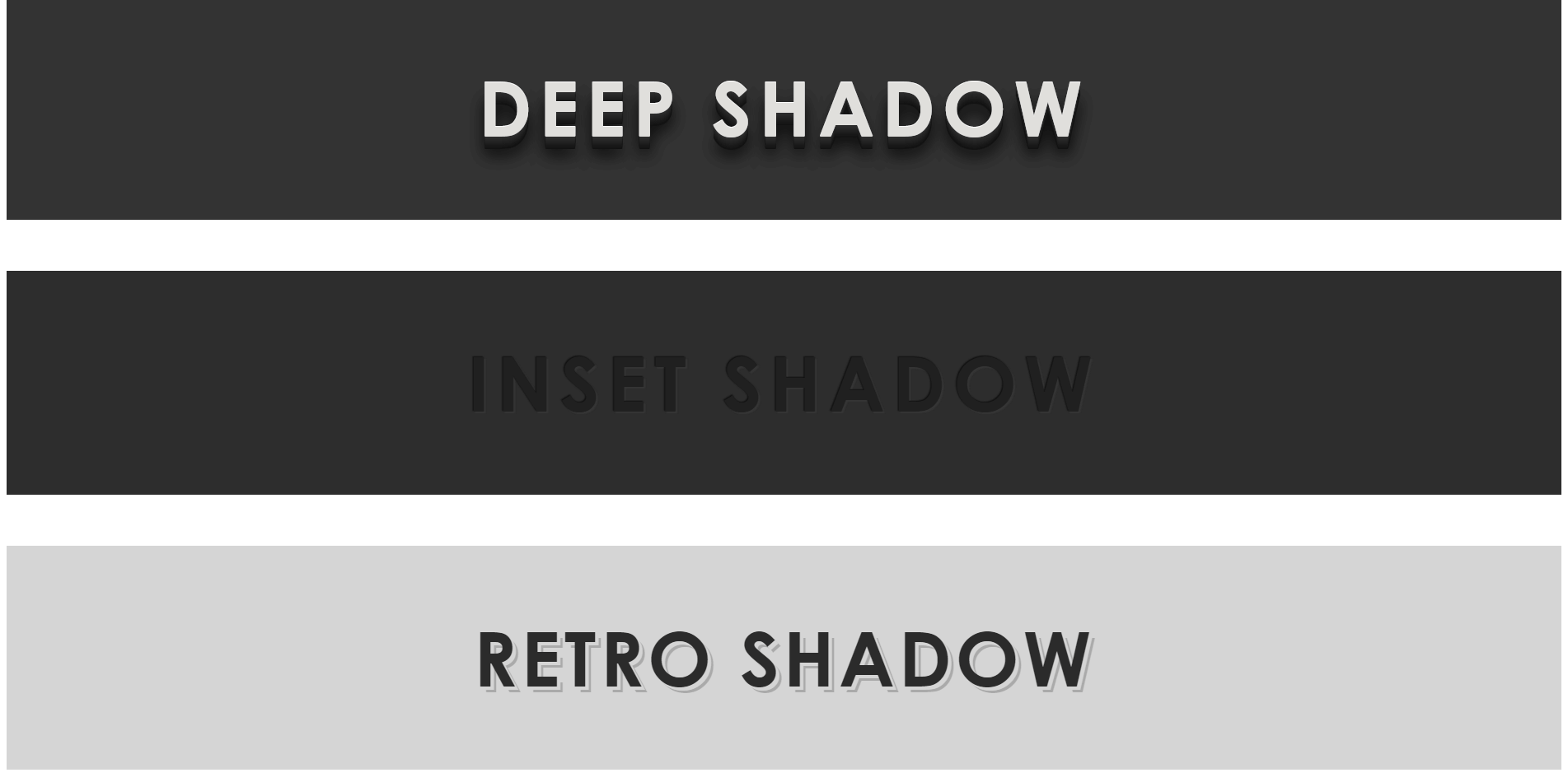 CSS3 文本-阴影效果