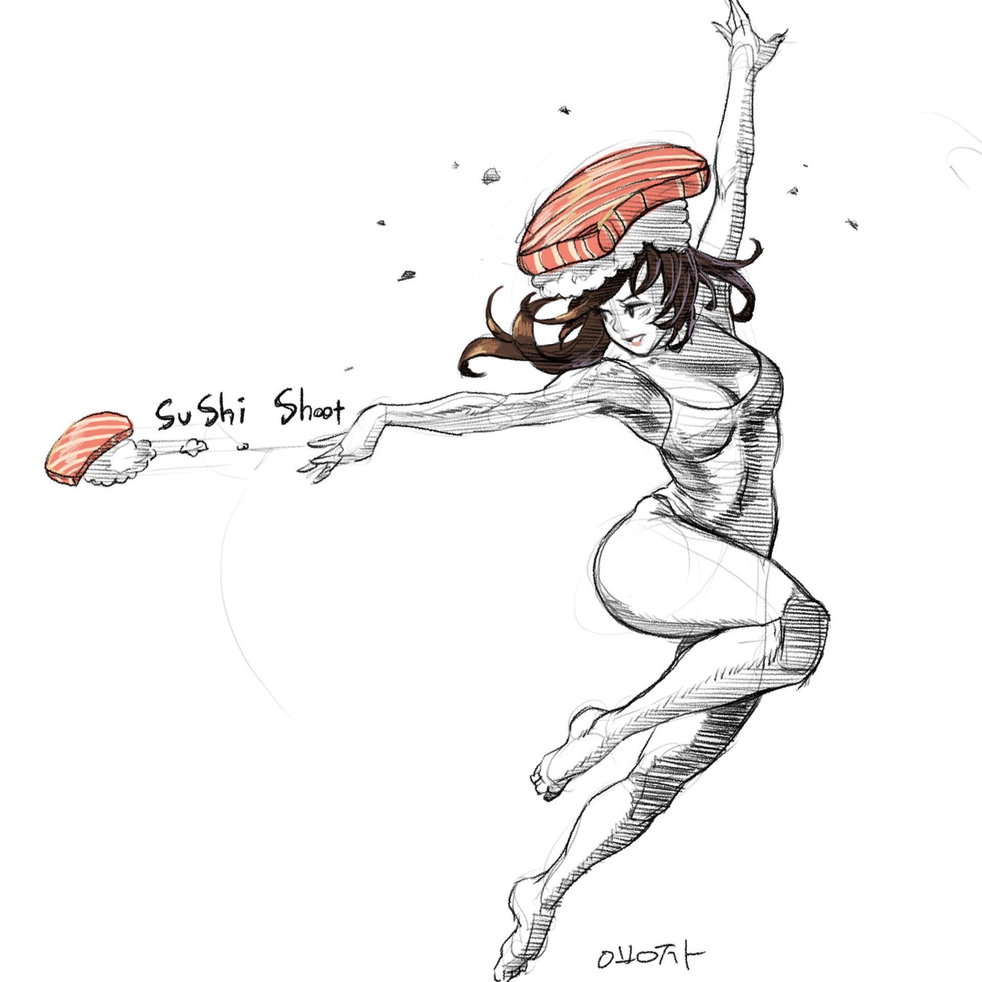 原画插画-人体速写光影肤色律动的曲线肢体语言作品原画插画线稿186P(13)