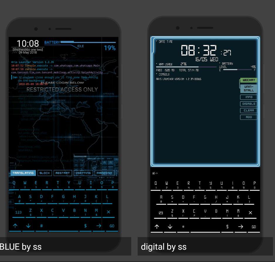 代码桌面-全是满满的科技感