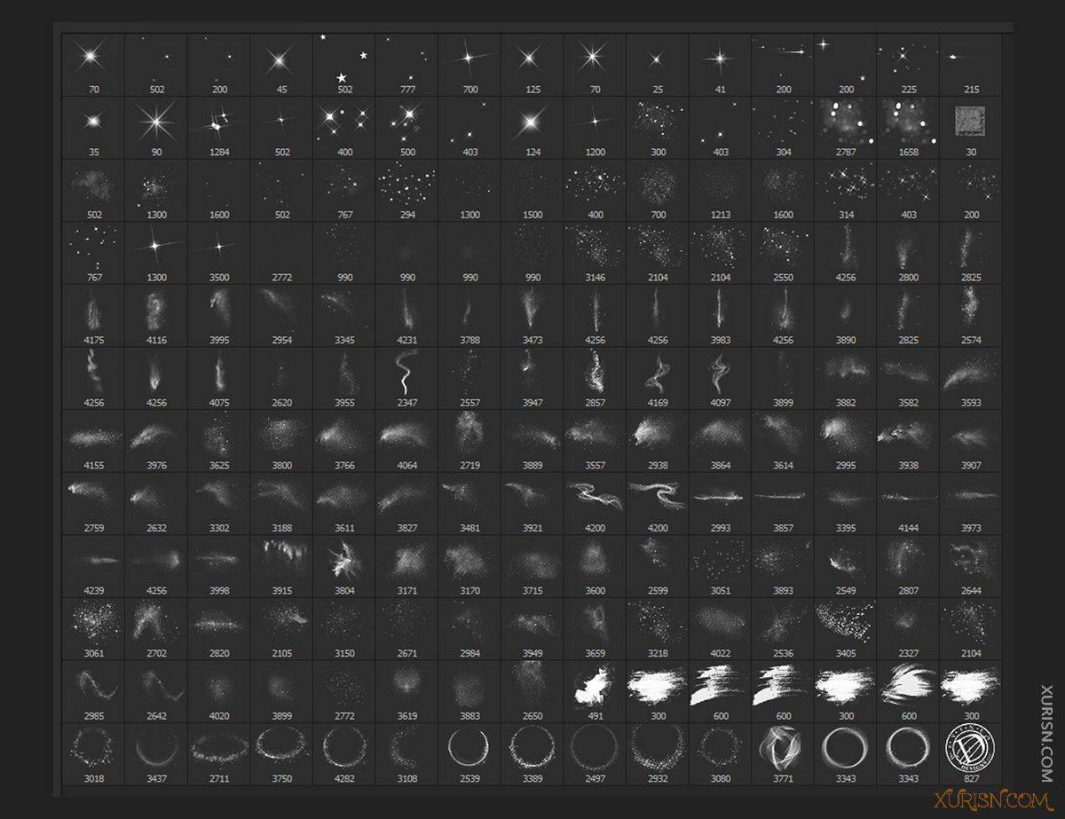 平面素材-PS闪光星光化妆眼影唇彩素材Ron's Glitter笔刷+样式+背景图片(4)