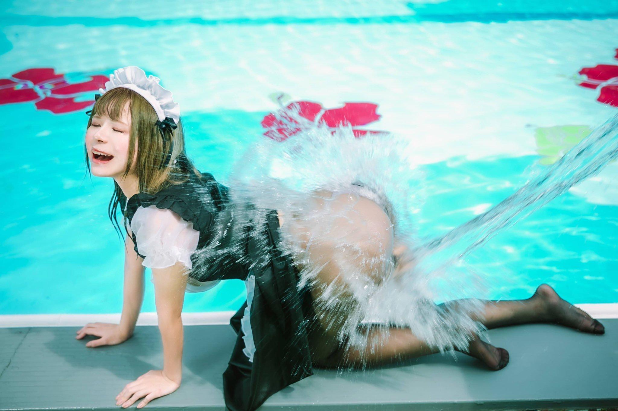 女仆泼水通透见肉 蒂法艾瑞丝百合浓密插图(50)
