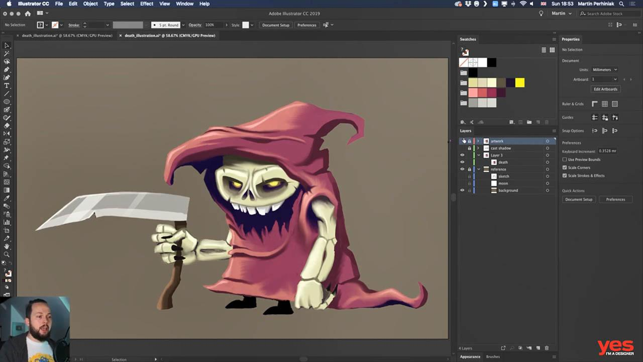 Yes Im a Designer Drawing Monsters with Adobe Illustrator CC - AI绘制卡通怪物角色教程