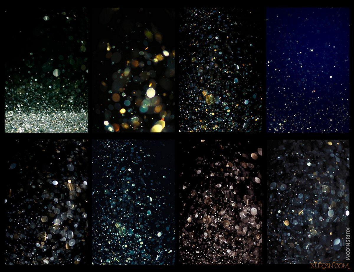 平面素材-PS闪光星光化妆眼影唇彩素材Ron's Glitter笔刷+样式+背景图片(11)