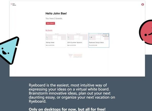 Ryeboard|在线手绘式白板在线工具神器