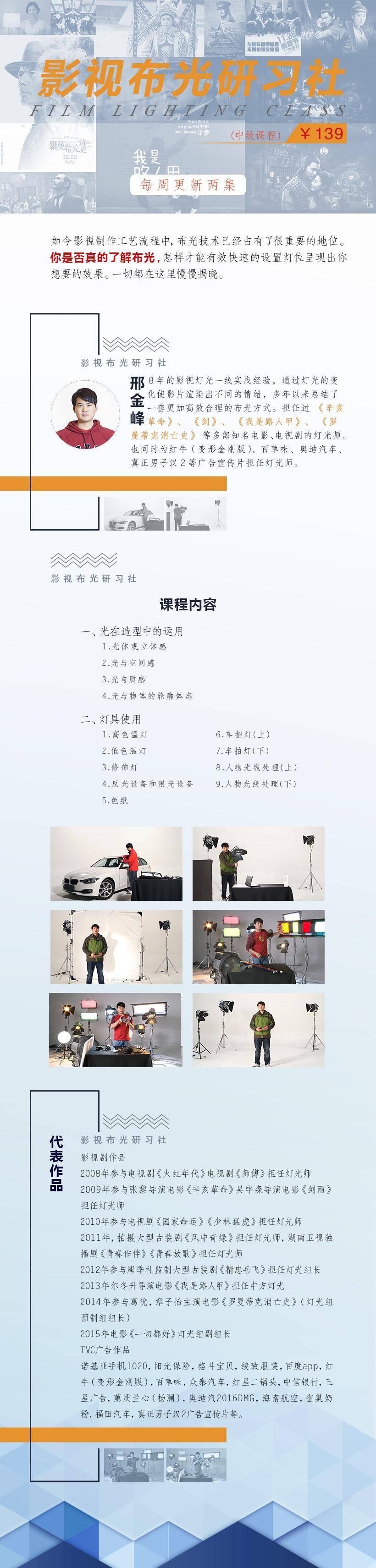 精品讲座-邢金峰影视布光研习社(初级+中级+高级) 一线灯光师教学课程(4)
