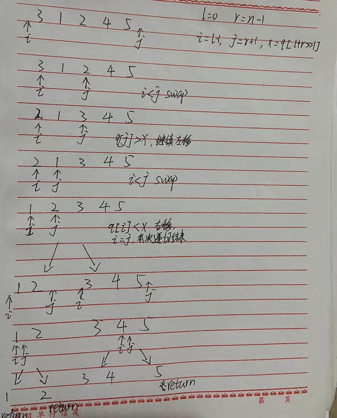 附上一个简单的快速排序图解