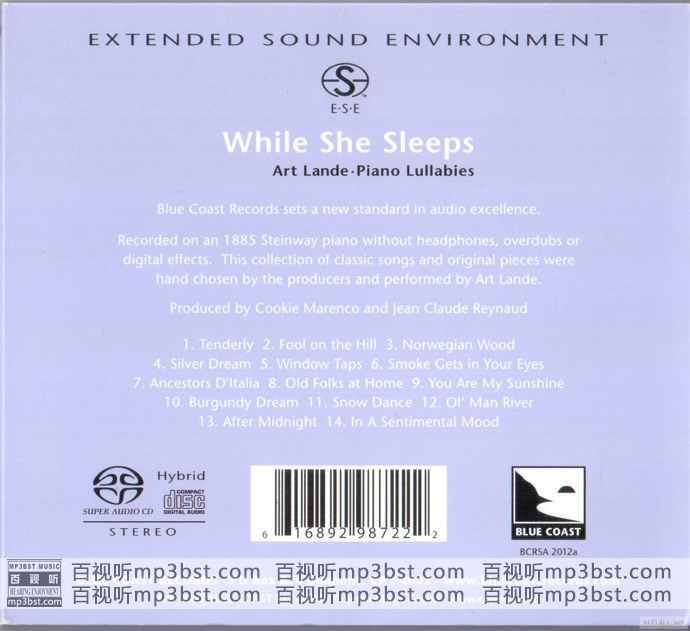 Art Lande_-_《While_She_Sleeps_(Piano_Lullabies)》美国蓝岸精选SACD示范天碟2[SACD-ISO](mp3bst.com)