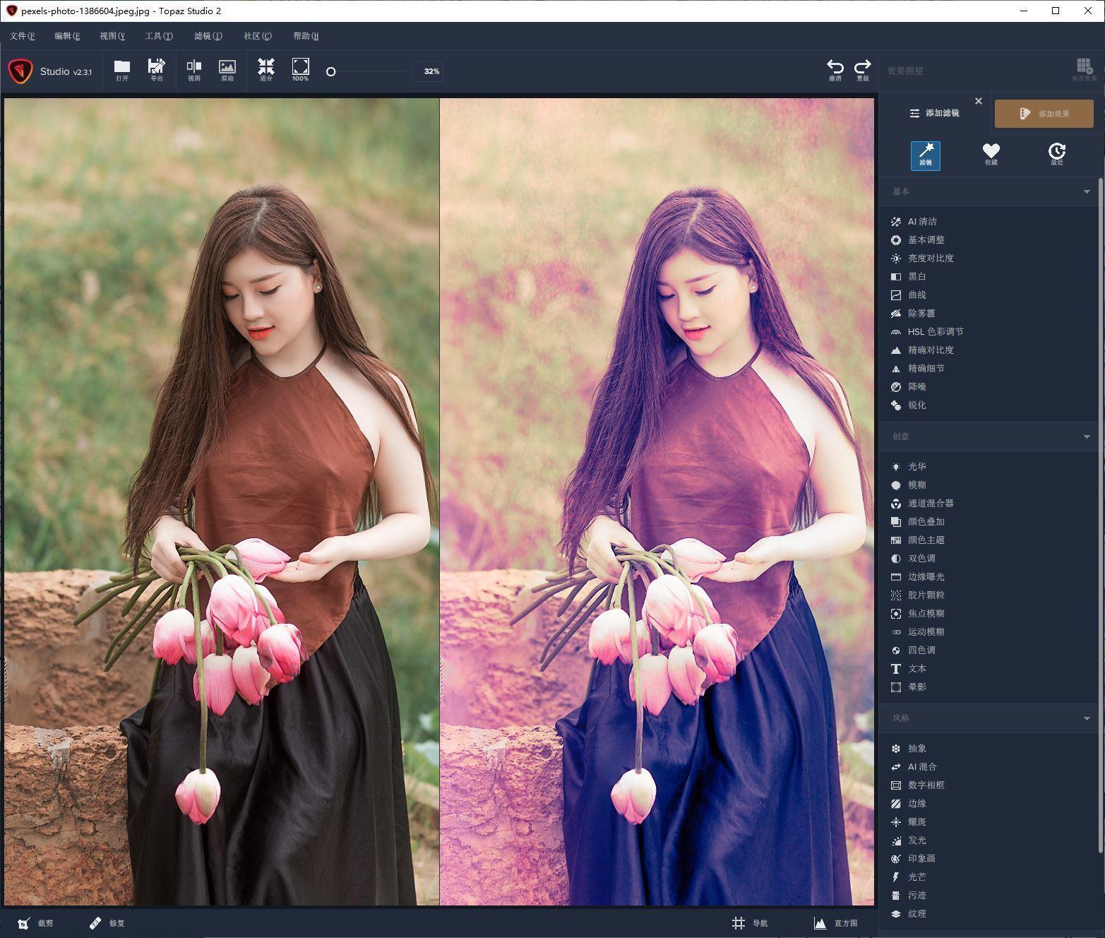 VIP资源-创意照片编辑软件 Topaz Studio 2.3.2 WIN 中文汉化版(1)