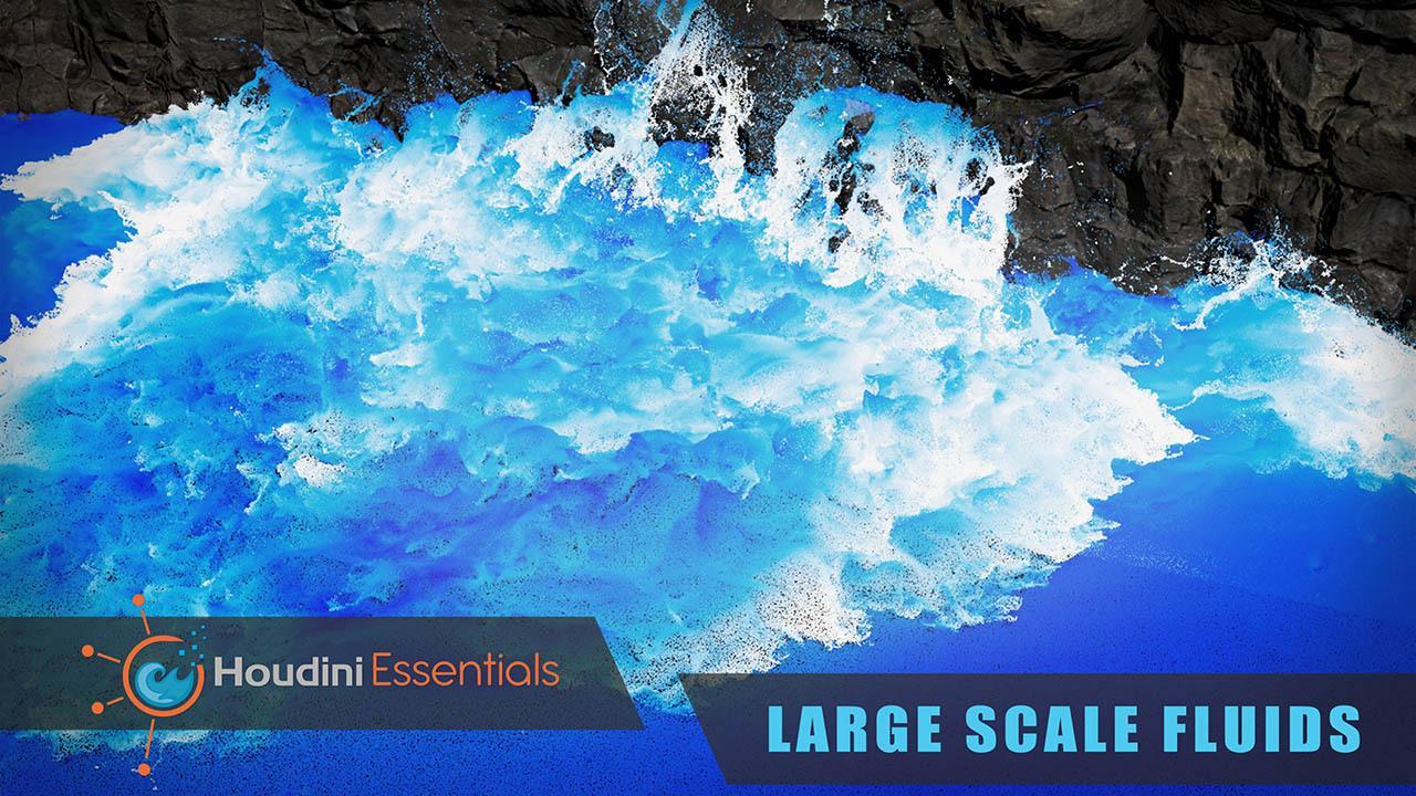 Houdini Essentials Large Scale Fluids – CGCircuit Houdini大面积流体海浪特效制作教程