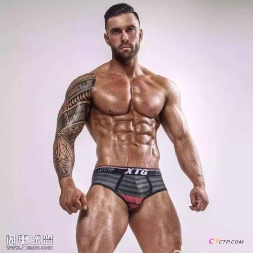身材超棒的欧美肌肉型男帅哥同志性感腹肌写真图片