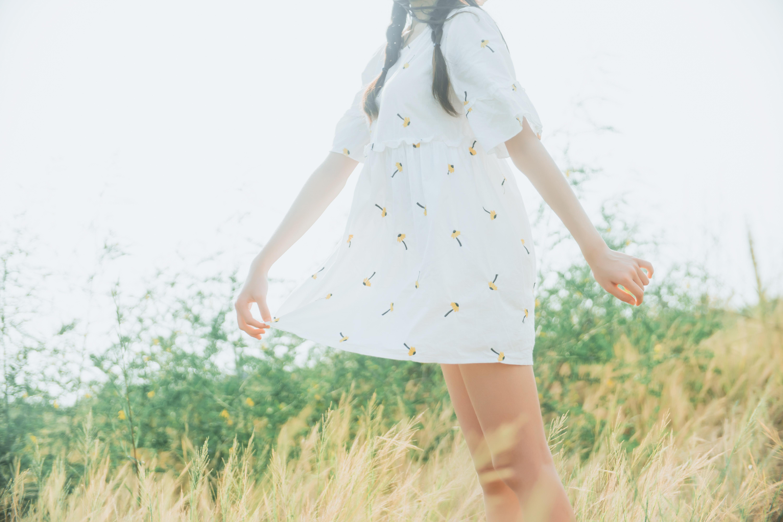 桜桃喵 - 田野 (这种天气真的很适合和她一起出去写生~~)-蜜桃畅享