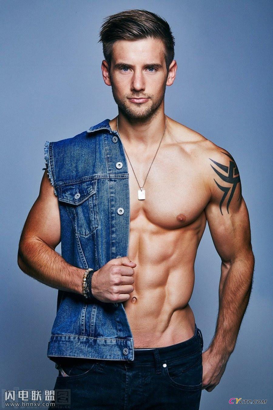 欧美肌肉型男帅哥同志性感腹肌写真图片合集