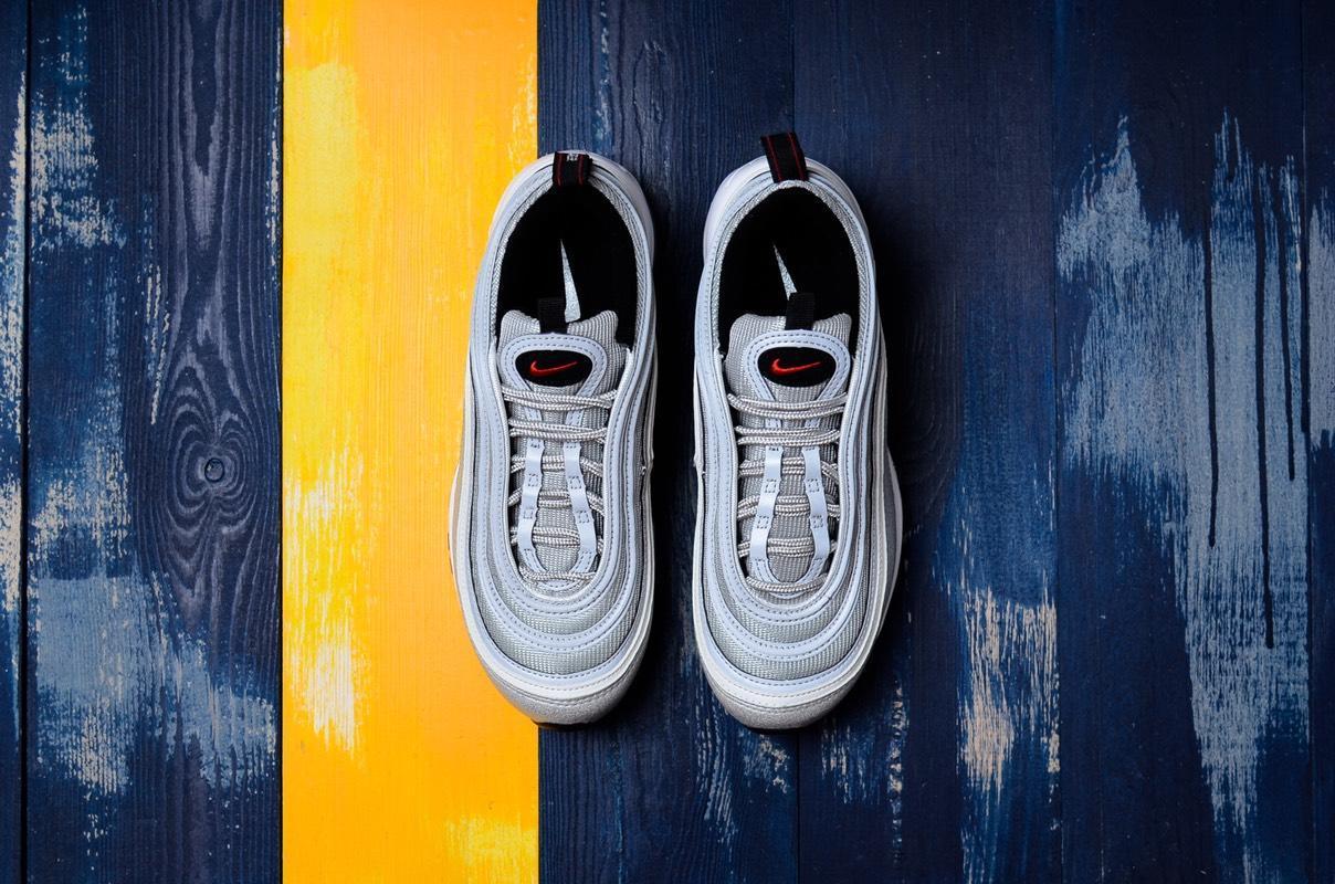 纯原/真标裁片Nike Air Max 97 OG QS 2016 RELEASE经典银子弹大气垫跑鞋884421-001