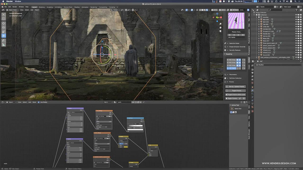 3D Environment Design For Production - Gumroad Blender三维场景搭建制作教程