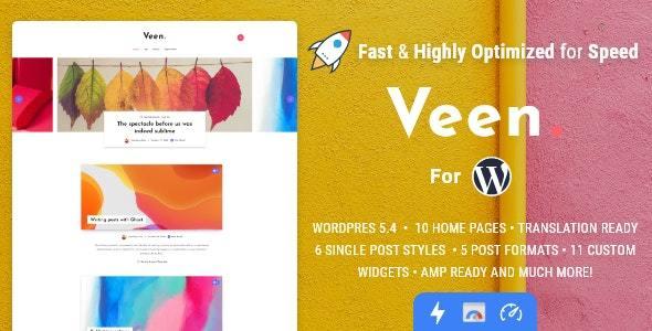 Veen – 最小和轻量级的WordPress博客主题(已汉化)